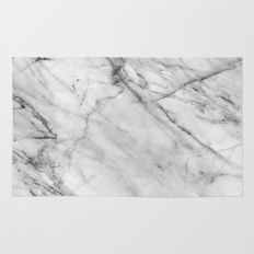 Rug featuring Marble by Patterns And Textures