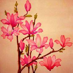 Silk Painting Magnolia