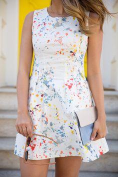 Gal Meets Glam- Paint Splatter Dress