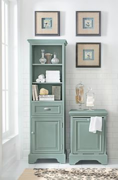 Simple bath storage that looks lovely. HomeDecorators.com #reviveyourhome