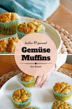 Rezept: Leckere Gemüsemuffins für Kinder - Mini & Stil Vegetable muffins: They are an excellent way to make vegetables tasty for children. They are suitable as a snack on the go or as a full me Vegetable Muffins, Vegetable Snacks, Vegetable Recipes, Muffins Sains, Baby Food Recipes, Snack Recipes, Baby Snacks, Kind Snacks, Homemade Baby Foods