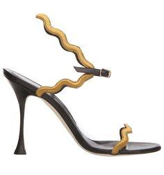 Manolo Blahnik Fall 2014 sandal.
