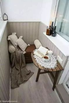 Examples for Small Balcony Decoration, . - Home Design Inspiration Interior Balcony, Apartment Balcony Decorating, Apartment Balconies, Interior Design Living Room, Kitchen Interior, Small Balcony Decor, Tiny Balcony, Balcony Design, Small Balconies