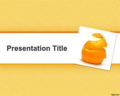 Free Orange Peel for diet presentations and orange PPT background
