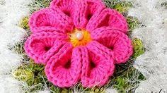 flores crochet barroco - YouTube