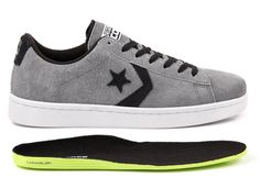 Converse CONS Pro Leather Skate: Grey & Black