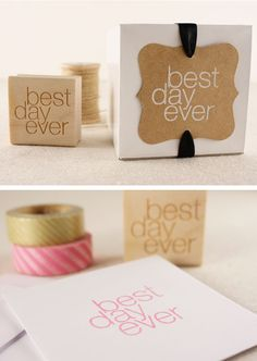 Best Day Ever stamp - cute for wedding favors