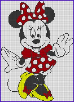 Discover thousands of images about Minnie Mouse Perler Bead Pattern Cross Stitch Pattern Maker, Disney Cross Stitch Patterns, Cross Stitch For Kids, Cross Stitch Heart, Cross Stitch Kits, Cross Stitch Designs, Graph Crochet, Pixel Crochet, Crochet Blanket Patterns