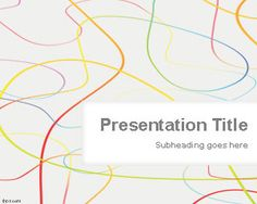 Colored Lines PowerPoint Template #free abstract PowerPoint slide design #PowerPoint #themes #background