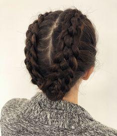 Trança boxeadora: 115 fotos e tutoriais passo a passo (VÍDEOS) Box Braids Hairstyles, Pretty Hairstyles, Medium Hair Styles, Curly Hair Styles, Trending Hairstyles, Braided Updo, Braid Styles, Prom Hair, Hair Looks