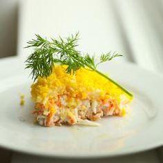 Фото рецепта: Салат мимоза с картошкой