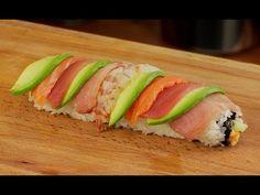 Rainbow Sushi Roll Recipe - YouTube