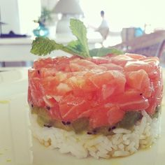 Salmon Tartar made by Tahiti Beach Club in Es Pujols #tahitibeachclub