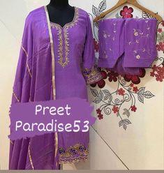 Punjabi Suits Designer Boutique, Boutique Suits, Indian Designer Suits, Embroidery Suits, Embroidery Fashion, Embroidery Ideas, Ethnic Outfits, Indian Outfits, Punjabi Dress
