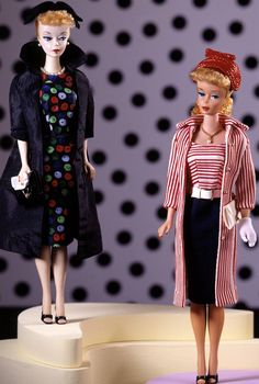 Number 1 Barbie wearing Easter Parade and number 4 or 5 ponytail wearing Roman Holiday 1959
