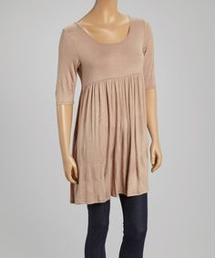 This Khaki Scoop Neck Tunic by MOA Collection is perfect! #zulilyfinds