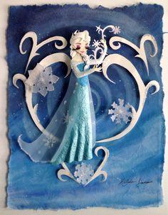Frozen Elsa paper sculpture