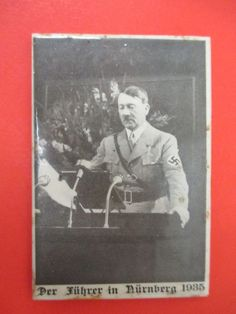 1936 German Nazi Hitler Propaganda Pocket Mirror