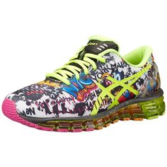 ASICS GEL-Quantum 360 NYC Women's Running Shoes ($170) ❤ liked on Polyvore featuring shoes, athletic shoes, cushioned shoes, lace up shoes, asics shoes, asics footwear and asics