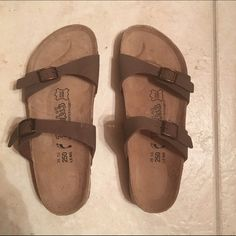 Birkenstock sandals In great condition — like new. They're a size 9 and the price is negotiable but no trade, sorry :( Birkenstock Shoes Sandals