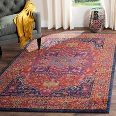 Safavieh Evoke Westley Power-Loomed Area Rug or Runner, Orange