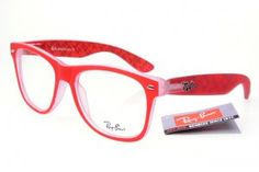 8bf4644c044d 2013 Ray Ban Red Pattern Frames Transparent Lens Cheaps1340 Ray Ban  Sunglasses Outlet
