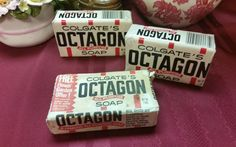 VINTAGE OCTAGON Bar Soap  Rare  Hard to Find  All by AmazingFun