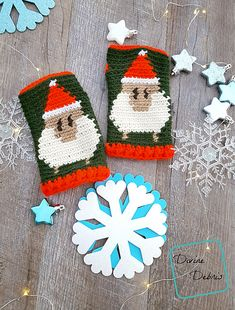 Sheep in Santa Hats Fingerless Gloves crochet pattern - A collection of crochet patterns, tips, supplies, amigurumi ideas and more. Mitten Gloves, Mittens, Christmas Crochet Patterns, Crochet Christmas, Christmas Hats, Christmas Clothing, Christmas Items, Christmas Recipes, Crochet Fingerless Gloves Free Pattern