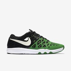Nike Oregon Ducks Train Speed 4 AMP Mens Shoes Apple Green Black 844102 301 #Nike #RunningCrossTraining