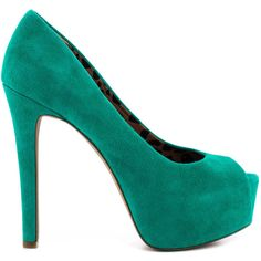 Jessica Simpson Women's Carri - Palmetto Green Sue ($60) ❤ liked on Polyvore featuring shoes, pumps, heels, sapatos, green, scarpe, platform pumps, high heel platform pumps, green peep toe pumps and green pumps