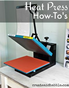 How to use a Heat Press in conjunction with your Silhouette machine. How to use a heat press and what I think about mine. Should you invest in a heat press?