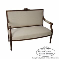 Antique-Walnut-French-Louis-XVI-Style-Settee