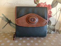 Women's Two Tone Leather Wallet by YanaMisiTreasures on Etsy