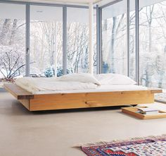 Tatami wooden double bed, design by Philippe Allaeys Sweet Home, Dream Bedroom, Home Bedroom, Winter Bedroom, Bedrooms, Upstairs Bedroom, Attic Bathroom, Dream Rooms, Interior Architecture