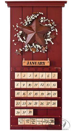 Red Barn Star Perpetual Calendar