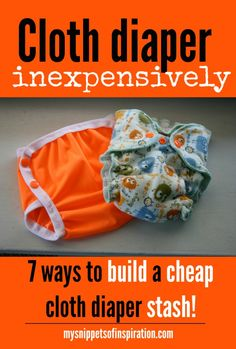 building a supply of cloth diapers cheaply!