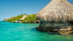 Coralina Island is a hotel located on an archipelago off the coast of Cartagena, Colombia