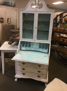 Uptown Market - Shabby Chic Writing Desk | #furniture #shabbychic #shabbychicfurniture #wilmingtonnc