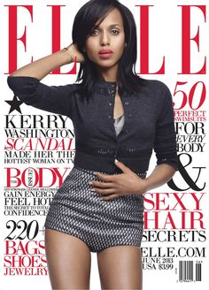 Kerry Washington Sports Marc Jacobs for Elle US June 2013 Cover | Fashion Gone Rogue: The Latest in Editorials and Campaigns