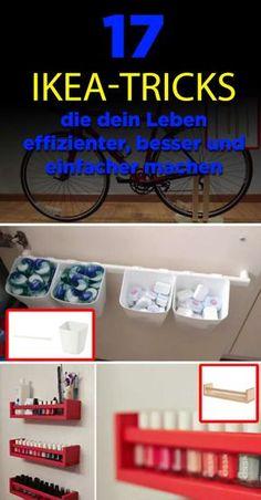 17 Practical Ikea Tricks That Make Your Life More Efficient, Better .- 17 praktische Ikea-Tricks, die dein Leben effizienter, besser und einfacher machen 17 practical Ikea tricks to make your life more efficient, better and easier - Organisation Hacks, Storage Hacks, Bedroom Organization, Ikea Storage, Craft Storage, Upcycled Home Decor, Diy Home Decor, Diy Nespresso, Ikea Bedroom