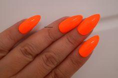 Neon orange stiletto nails Nail designs Nail by FifeFantasiNails