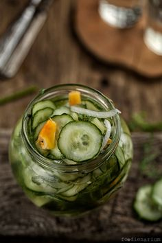 Sweet Pickled Cucumbers Recipe. Will have to try this. Lots of pickling cucumbers growing now!