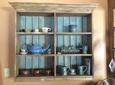 Rustic Display Wall Unit | Do It Yourself Home Projects from Ana White