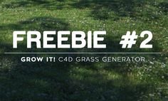 Freebie: C4D parametric grass generator on Behance