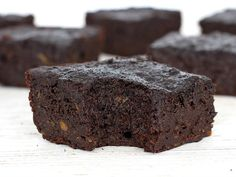 Rich fudgy gooey sweet potato brownies made even healthier with whole wheat flour and no butter, oil or added sugar in them.
