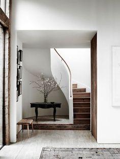 Minimalist with rustic tendencies. Foyer design