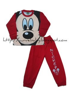 Mickey Mouse Pajamas  Size: 4, 6, 8 Age: 3, 4, 5  Color (Available Size):  Red (4, 8)  Blue (8)  Black (4, 6)  Price: $10