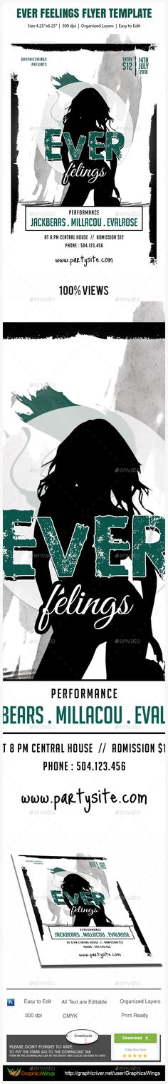 Buy Ever Feelings Flyer Template by kreativenet on GraphicRiver. All you need to do is add your event related info. I've made this file very easy for you to edit. This file is sold e. Flyer And Poster Design, Flyer Template, Fonts, Messages, Graphics, Templates, This Or That Questions, Feelings, Designer Fonts