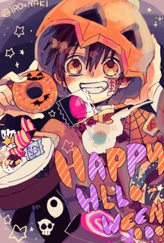 """Hanako kun and HappyHalloween ! Otaku Anime, Manga Anime, Anime Chibi, Manga Art, Anime Art, Animes Wallpapers, Cute Wallpapers, Character Art, Character Design"