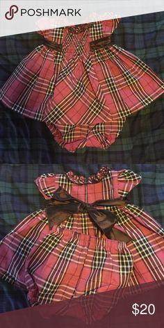 Party Dress Beautiful mauve colored plaid party dress.  Worn once.  EUC. Bonnie Baby Dresses